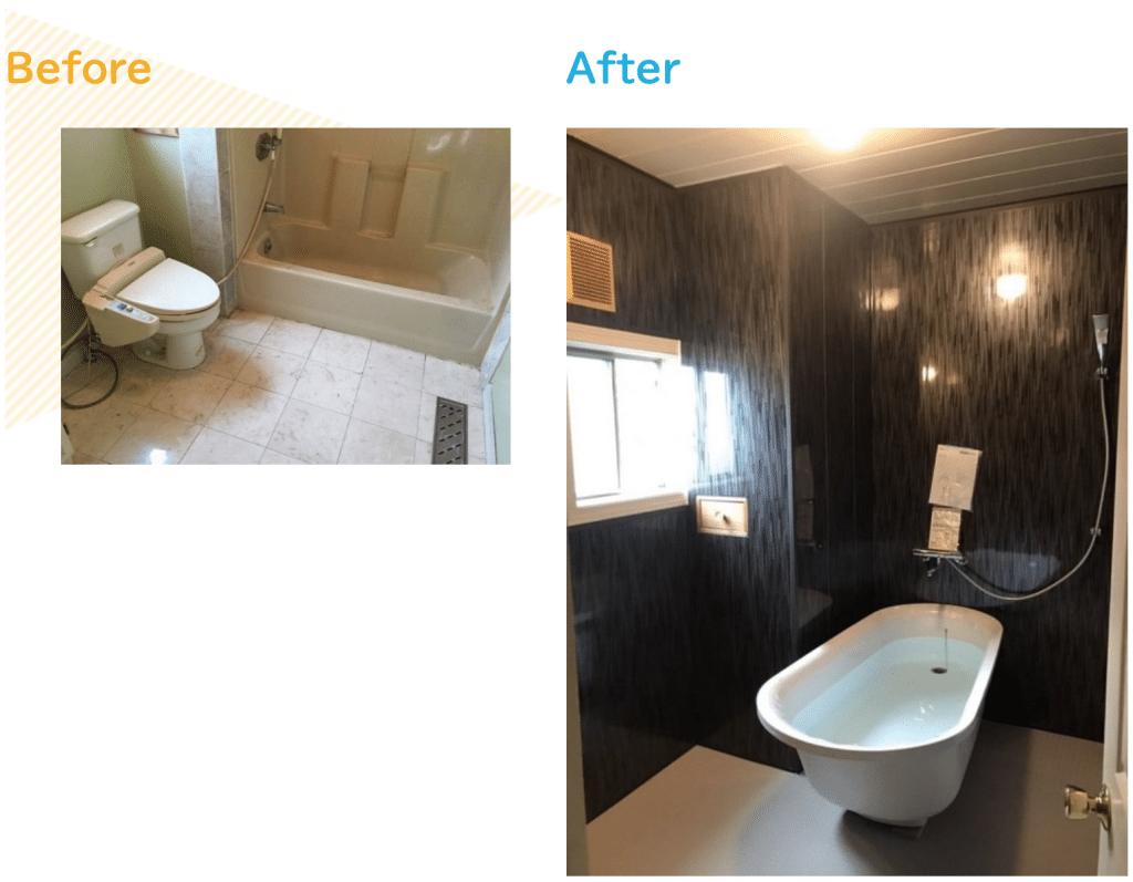 TOTOユニットバスルームラフィアの浴室リフォーム事例