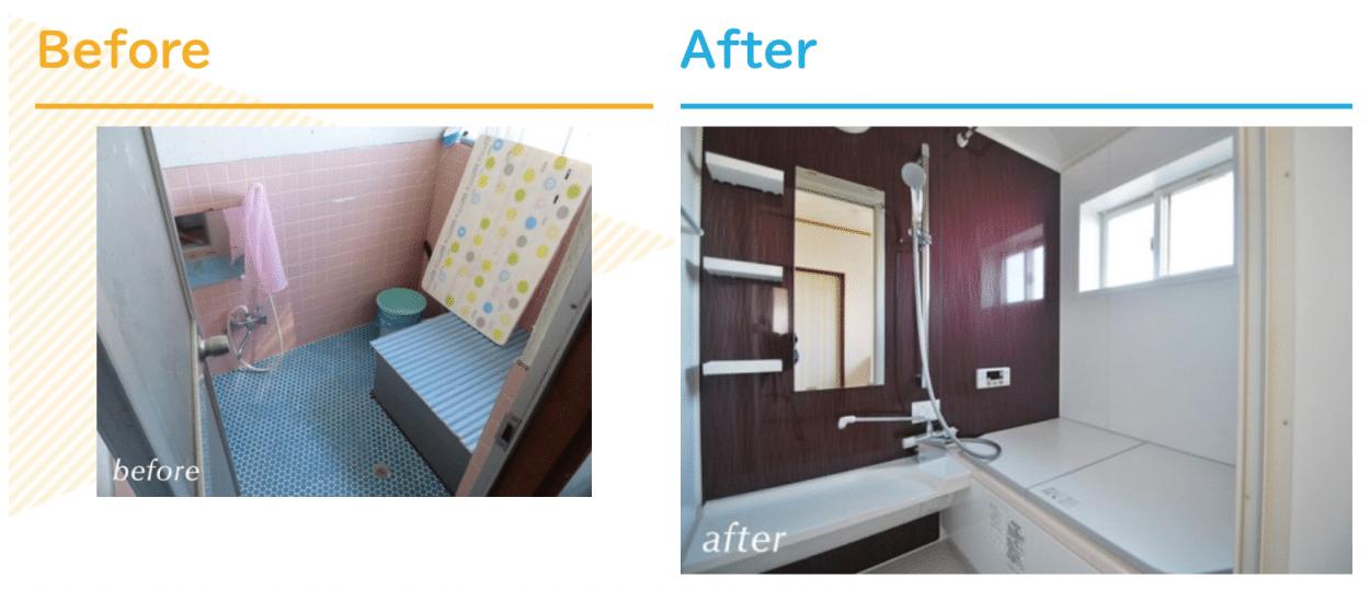 浴室リフォーム230万円リクシル 戸建用ユニットバスルーム/ノーリツ 石油給湯器 OTQ-G3702WFF/ノーリツシステ