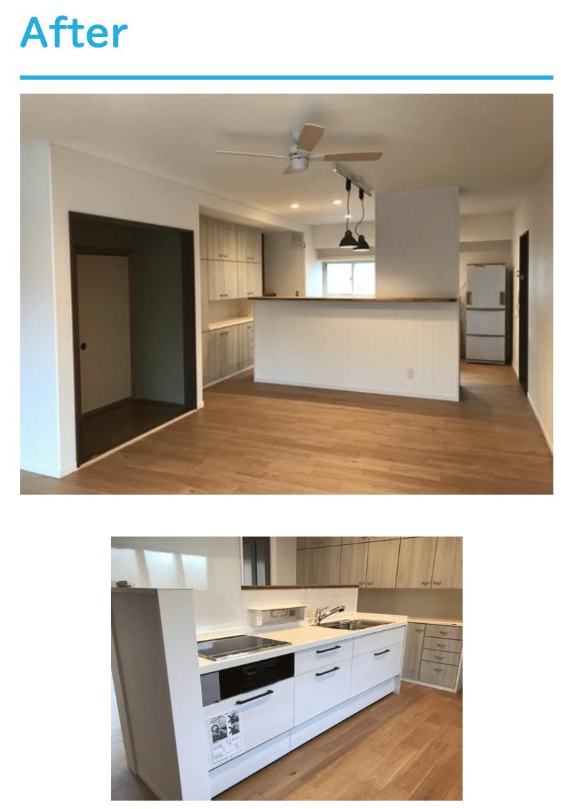 キッチンリフォームLIXILアレスタの施工事例