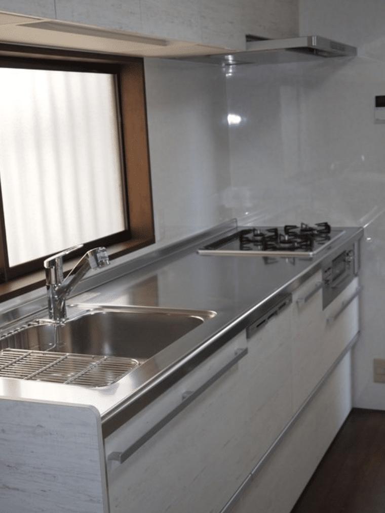 キッチンリフォーム施工事例兵庫県神戸市クリナップシステムキッチンラクエラ