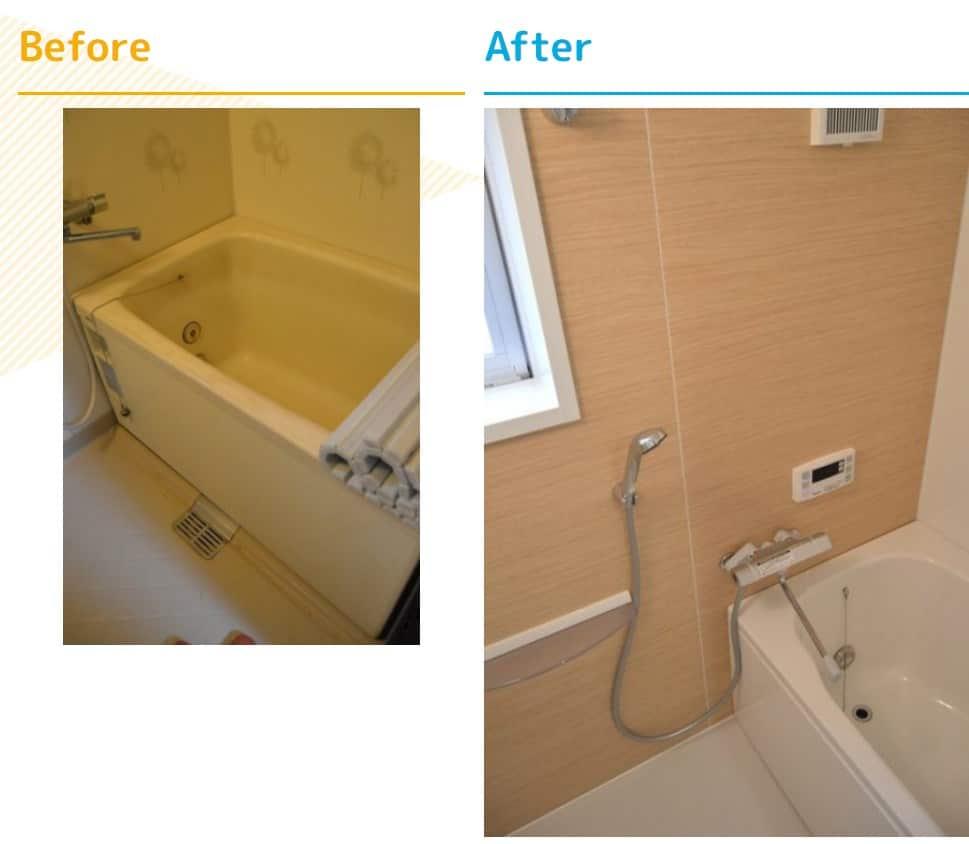 予算100万円以内の浴室リフォーム事例