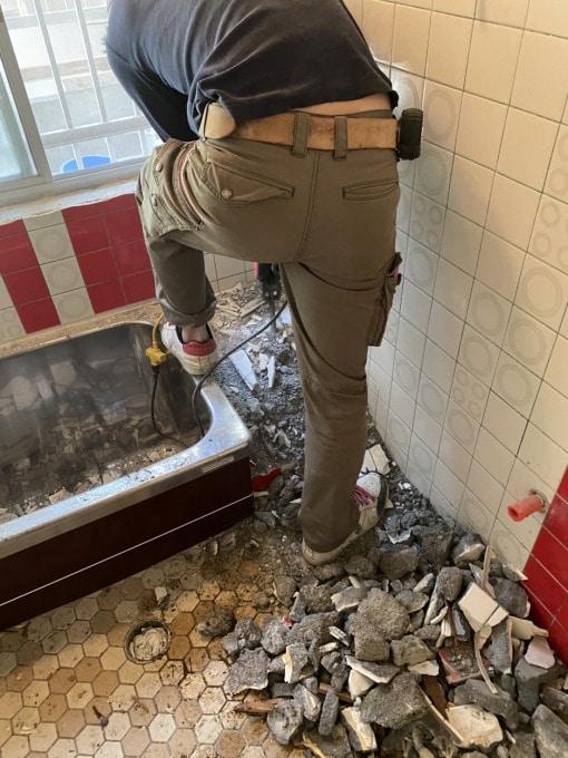 浴室リフォーム解体