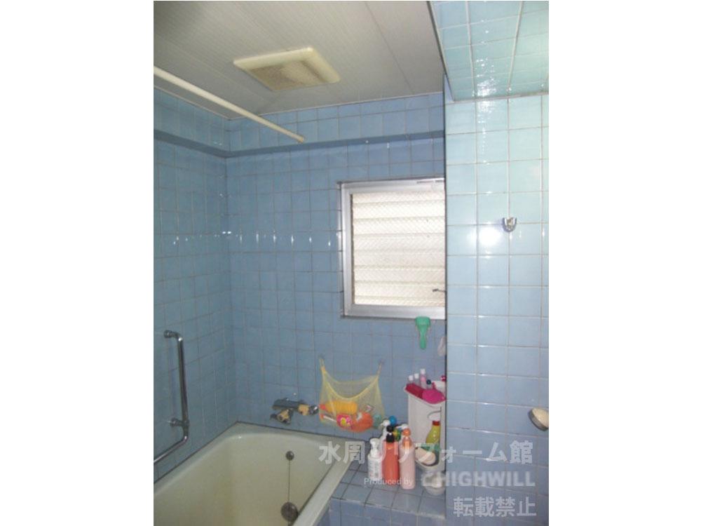 タイル張りが在来工法浴室の代表例